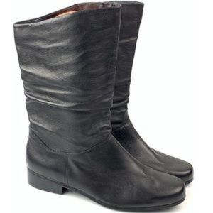 St John's Bay Jamie Mid-Calf Slouch Leather Boots